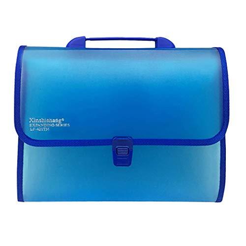 Willlly Dateiordner Erweitern 13 Taschen A4 Chic Akkordeon Dokumentenmappe Mit Griff Office Supplies School Basic Mode Dekoration Produkte Bürobedarf (Color : Blau, Einheitsgröße : Einheitsgröße)
