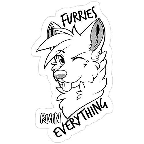 Vinyl Sticker For Cars, Trucks, Water Bottle, Fridge, Laptops Furries Ruin Everything Stickers (3 Pcs/Pack) 891345717559