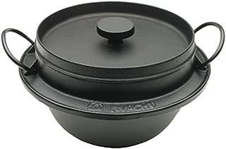 Iwachu 410-718 Japanese Cast Iron Gohan Nabe Rice Cooker, Black