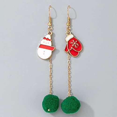 FEARRIN Pendientes a Granel Pendientes Colgantes de pompón Festivo para Mujer Árbol de Navidad Campanas Elk Pendientes de Encanto Fiesta de año Nuevo Regalo de joyería 16645