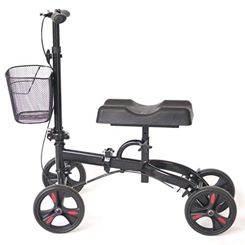 Knee Walker, Knee Walker Steerable Knee Walker Knee Scooter Alternative Crutches, Knee Medical Scooter Heavy Duty for Broken Leg and Foot
