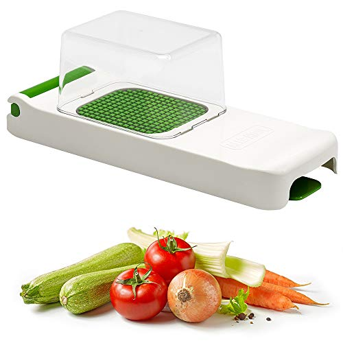 Alligator Original Vegetable Fruit Onion Chopper Dicer with Collector - Super Sharp Stainless Steel Blades 6x6 mm - 2 Year Warranty