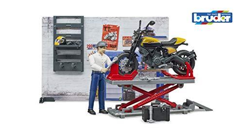 bruder 62102 Bworld Motorradwerkstatt mit Scrambler Ducati Full Throttle