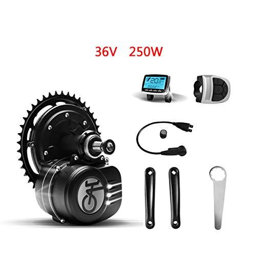 Tongsheng Motor de Bicicleta eléctrica 36V 250W VLCD5 TSDZ2 Kit de Motor Central E-Bike Mid Drive Motor (Arma de Escalada Impermeable híbrido 25 km/h 80N.m)