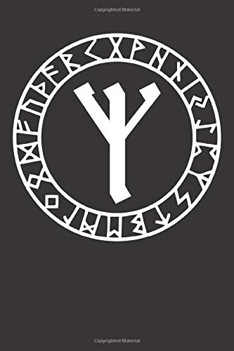 Viking Algiz Rune to Ward Off Evil: Blank Lined Notebook, Journal or Diary