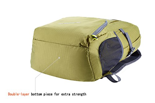 Venture Pal Ultralight Lightweight Packable Foldable Travel Camping Hiking Outdoor Sports Backpack Daypack-Green