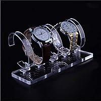 【ec-drive】腕時計スタンド (2列14本掛け) クリア コレクション 収納 ディスプレイ