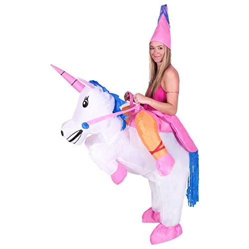 Bodysocks® Aufblasbares Einhorn Kostüm für Erwachsene