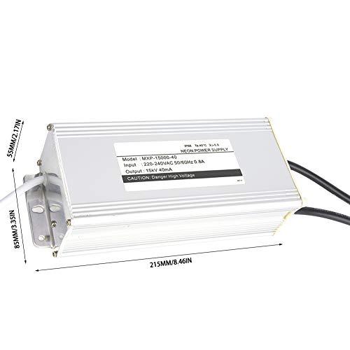 Transformador electrónico de luz de neón, fuente de alimentación de neón de alta potencia, para lámpara de neón, letrero de lámpara de uso profesional, letrero de lámpara de neón