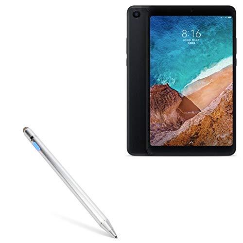 Caneta Stylus Xiaomi Mi Pad 4, BoxWave [AccuPoint Active Stylus] Caneta eletrônica com ponta ultrafina para Xiaomi Mi Pad 4 - Prata metálica