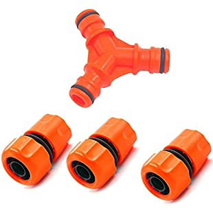 Arvin87Lyly 3 Way Connector Hose Y Connect Plastic Quick Connector Garden Water Pipes 3 Way Hose Splitter Snap On Hose Splitter Garden Hose:Ege17ru