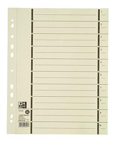 Oxford Trennblätter A4 aus Karton mit Perforation, chamois, 100 Stück