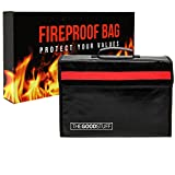 The Good Stuff Fireproof Waterproof Document Storage Bags (2000℉), Protect Important Documents from House Fires, Hurricanes, and Tornadoes, Easy to Carry Fireproof Box Bags (Extra Strength)