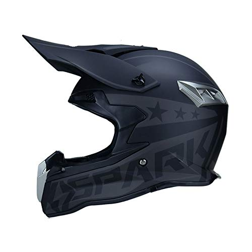 Cascos de Moto para Hombre,Casco de Motocross de Cara Completa de Fibra de Carbono con Borde Gorra de Moto de montaña al Aire Libre Accesorios de Moto 4 Estaciones