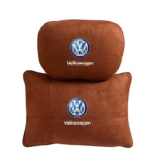ASHDelk Reposacabezas para Asiento de Coche, Almohada para el Cuello, Respaldo Lumbar, Apto para Volkswagen Golf 4/5/6/7/8 2003-2021