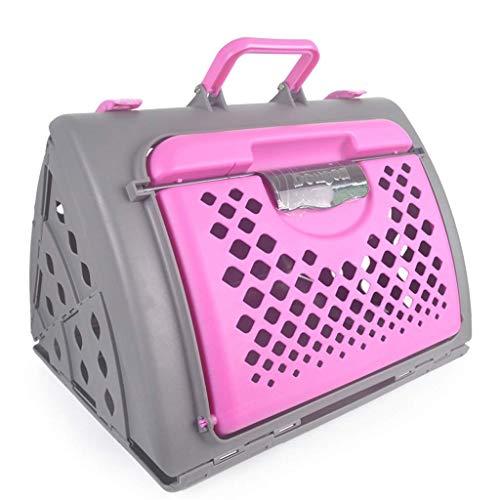 ZZXXMM Transportbox - In Übereinstimmung mit den IATA-Anforderungen für die Beförderung lebender Tiere, großer Transportbox für den Transport von Haustieren, ausklappbarer tragbarer Hundekäfig