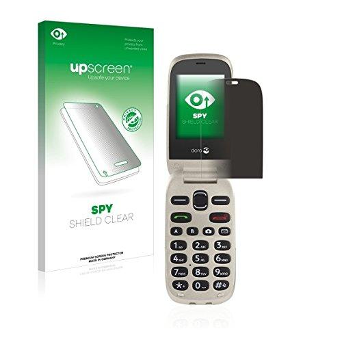 upscreen Spy Shield Clear Blickschutzfolie / Privacy für Doro 6030 (Sichtschutz ab 30°, Kratzschutz, selbstklebend)