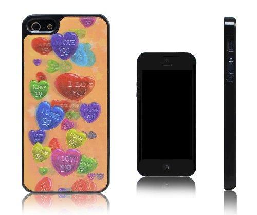 Xcessor Hearts Cuori 3D Holographic Custodia Rigida in Plastica per Apple iPhone SE / 5S / 5