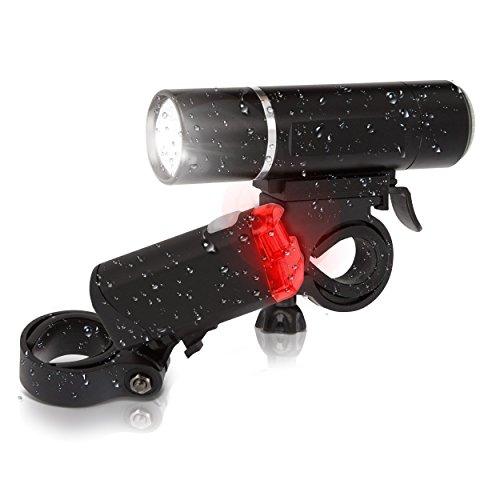 Fahrradlicht Set mit StVZO Zulassung Batteriebetriebenes Rücklicht und Vorderlicht für alle Fahrräder superhelles Fahrradlampenset Sicherheit beim Fahrradfahren Fahrradlampe Beleuchtungs-Set