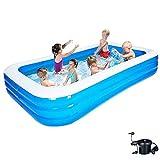 Piscinas hinchables extra grande, piscina de agua para niños y adultos con bomba, piscinas para niños de fiesta de agua de verano, piscina de salón inflable de ajuste rápido A 120x72x24 pulgadas