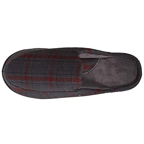 Isotoner - Zapatillas para hombre, diseño moderno, Tartán, 40 EU
