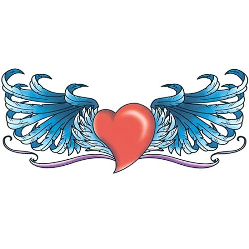 free Inexpensive Red Heart w Blue Wings 4.25