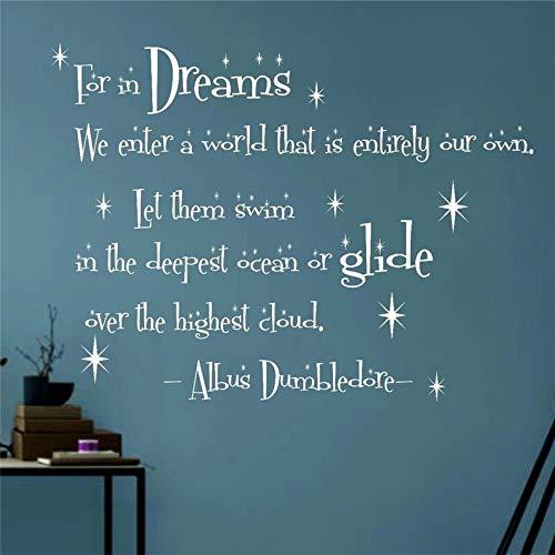 Dumbledore personnalisé dans Dreams Harry Potter Quote Nursery Kids Room stickers muraux sticker mural