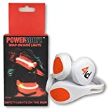 4ID | Power Spurz | Ultra Bright LED Wearable Shoe Safety Light | 2 Light Settings | Pack of 2 (Red)