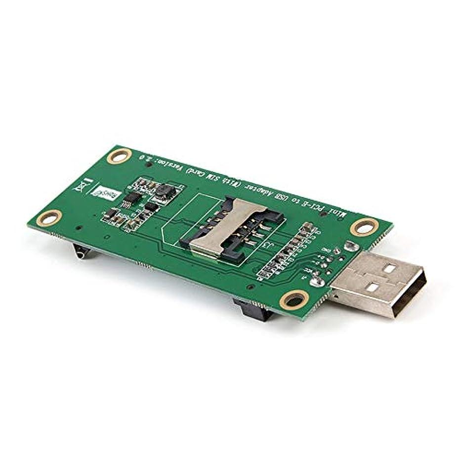 やるつかいます教養があるJasnyLoo SIM 6ピン/ 8ピンカードコネクタ用のWWAN / LTEモジュールサポート用のSIM 8ピンカードスロットを備えたミニPCI-E-USBアダプタ