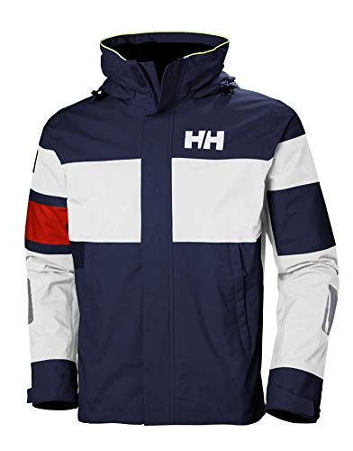 Helly Hansen Men's Salt Light Waterproof, Windproof, & Breathable Sailing Marine Jacket, 597 Navy, Medium