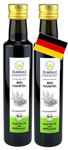 Bio Hanföl 1000ml (2x500ml) kaltgepresst aus Bio Hanfsaat