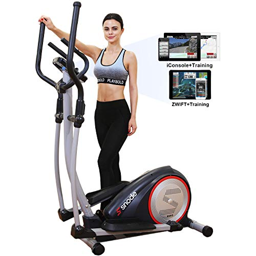 SNODE E20i Magnetic Elliptical Machine Trainer Fitness Exercise Equipment for Home Workout with Bluetooth Capability