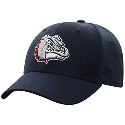 Top of the World Cap-Officially Licensed by NCAA, Memory, Wool-Adult, One Size Fits Most Schildmütze – offiziell lizensiert, Wollmischung – Erwachsener, Einheitsgröße, Gonzaga Bulldogs Navy