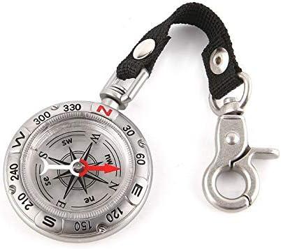 Nobrand Vintage Reloj de Bolsillo Zinc aleación brújula Llavero Camping Senderismo Herramientas de Supervivencia náutica