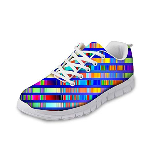 MODEGA Bunte Schuhe Plaid für Turnschuhe Schwarze Bowlingschuhe für Männer täglich Schuhe modische Schuhe für Jungen Turnschuhe Schuhe Sport Schnürsenkel Größe 42 EU|7.5 UK