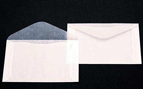 Premium Glassine #4 Envelopes by JBM Glassine; Measures 4-7/8' x 3-1/4' - Pack of 100