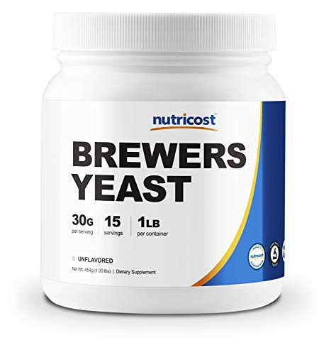 Nutricost Brewer's Yeast 1LB (16oz) - 30 Grams per Serving, High Quality - Non-GMO