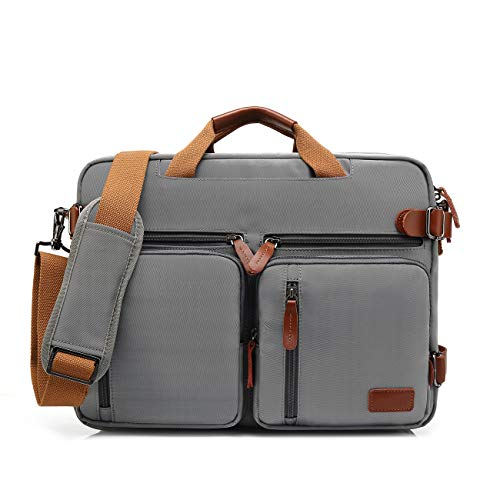 BSDZ canvas rugzak, messengerbag aktetas, schoudertas, werktas, voor dames en heren, multifunctionele laptoptas voor laptop