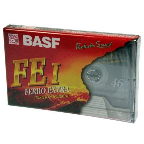 Pack 2x Schriftband-Kassette Audio BASF fe-i Ferro Extra 46Min Position Normal