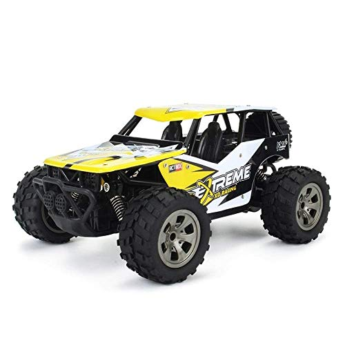 LKOER 1/18 4WD All-Terrain de Alta Velocidad RC RC, neumáticos Grandes y automóvil de Carreras de RC eléctrico Anti-otoño, camión de Doble Motor de Doble Motor con ... jinyang ( Color : Yellow )