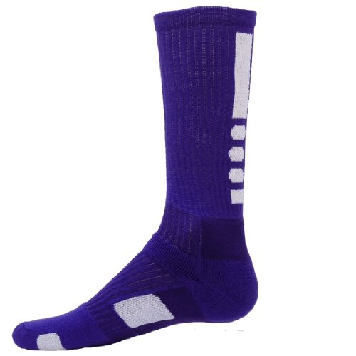 Red Lion Legend Athletic Socks ( Purple / White - Medium )