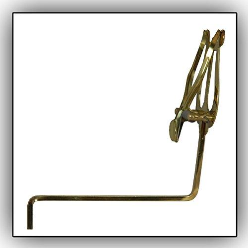 Saxophon-Marschgabel Soundman® Notenhalter für Saxophon Alt/Tenorsaxophon (Quadratische Stielspitze) Farbe: Gold