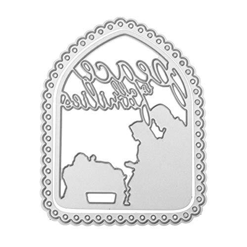 Xmiral Fustelle per Scrapbooking per Carta Cutting Dies Metallo Fustella Stencil #19032501S, Accessori per Big Shot e Altre Macchina(G)