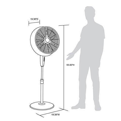 NewAir, AF-520B, Outdoor Misting Oscillating Pedestal Fan with Five Gentle Mist Nozzles, 500 Square Foot Effective Range, Black
