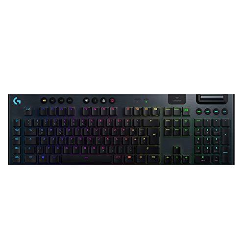 Logitech G915 LIGHTSPEED kabellose mechanische Gaming-Tastatur, Linear GL-Tasten-Switch mit flachem Profil, LIGHTSYNC RGB, Ultraschlankes Design, 30+ Stunden Akkulaufzeit, Wireless Verbindung