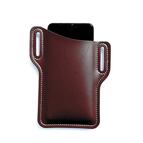 Funda universal de cuero para cinturón de teléfono con clip para teléfono...
