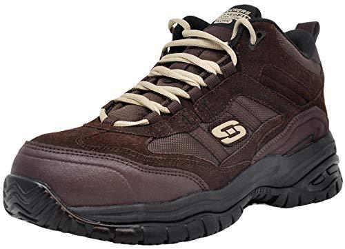 Skechers Men Soft Stride Work Boot, Brown, 9 M US
