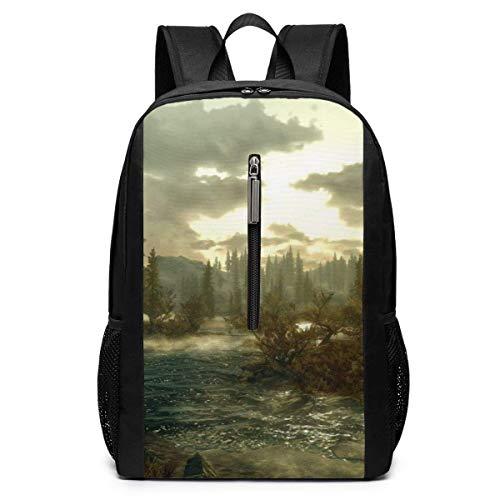 Videospiele The Elder Scrolls V Skyrim Business Laptop Rucksack Resistant Bag Daypack Für 17 Zoll Computer Notebook Rucksack Casual Daypack