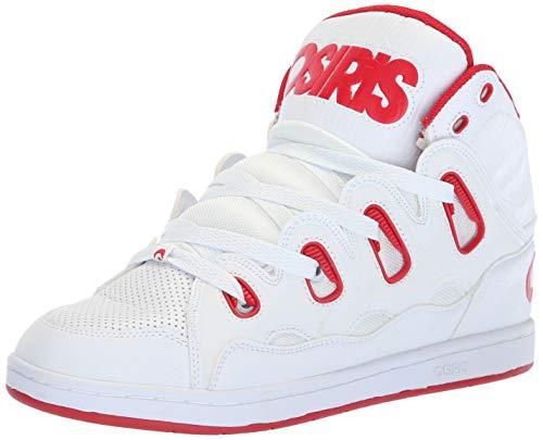 Osiris Men's D3H Skate Shoe, White/red/White, 5 M US