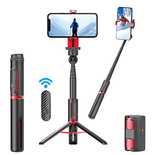 Yedano Gimbal Stabilizer Phone Mini Tripod Handheld Extendable Selfie Stick Tripod Gimbal Bluetooth Remote Portable Smartphone Holder Stand TikTok YouTube Compatible with iPhone Android Smartphone